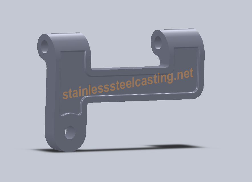3D Model of Custom Stainless Steel Casting Part