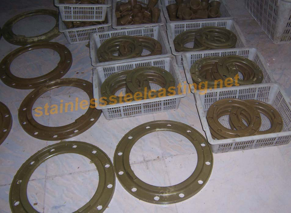 Wax Patterns of Cast Stainless Steel Back-Up Flanges
