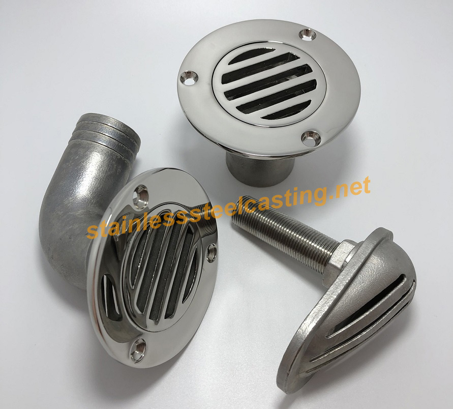 Stainless Steel Casting of Boat Deck Drain